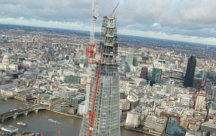 Amazing views of the Shard and London's skyline.