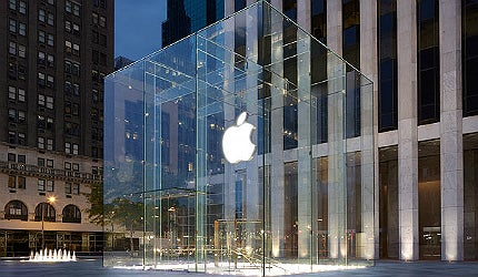 Apple's Fifth Avenue entrance is not only spectacular to look at but it is also illustrates the speed of change