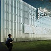The glass façade for the new wing, which is still in development, plans to alter perceptions of glass