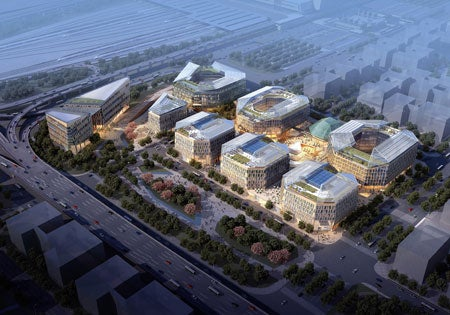 Hongqiao business district in China