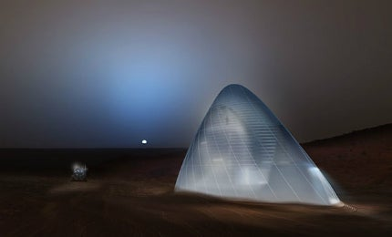 Mars Ice House was the winner of NASA's 3D Printed Habitat Challenge Design Competition.