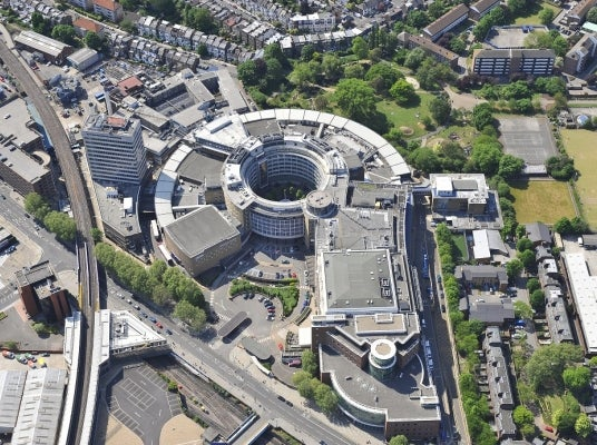 BBC Television Centre in transformation in West London