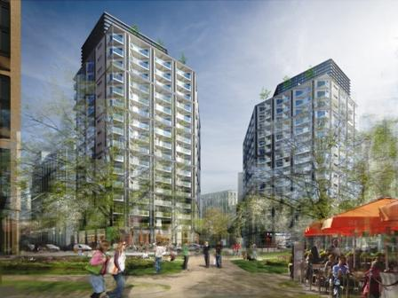 Royal Mail Group's mixed use scheme, Nine Elms Parkside.