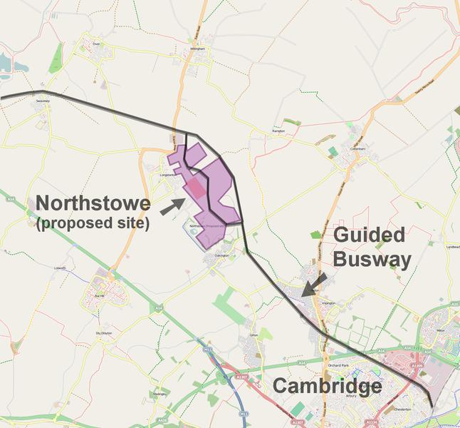 Northstowe town in South Cambridgeshire
