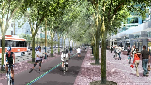 Queens Quay waterfront renovation project in Canada