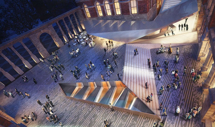 V&A museum's underground expansion in UK