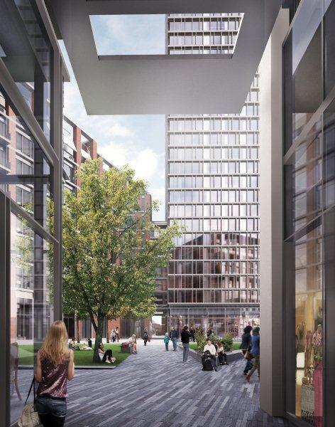 Vauxhall Square mixed use development in UK