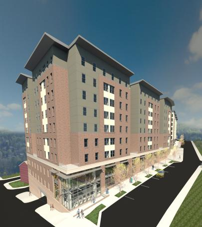West Virginia University mixed use residential complex in US