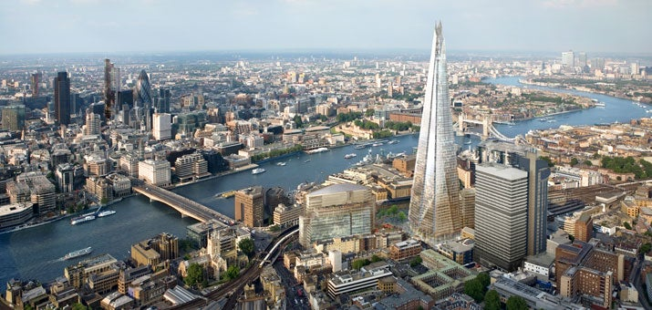Shard tower in London
