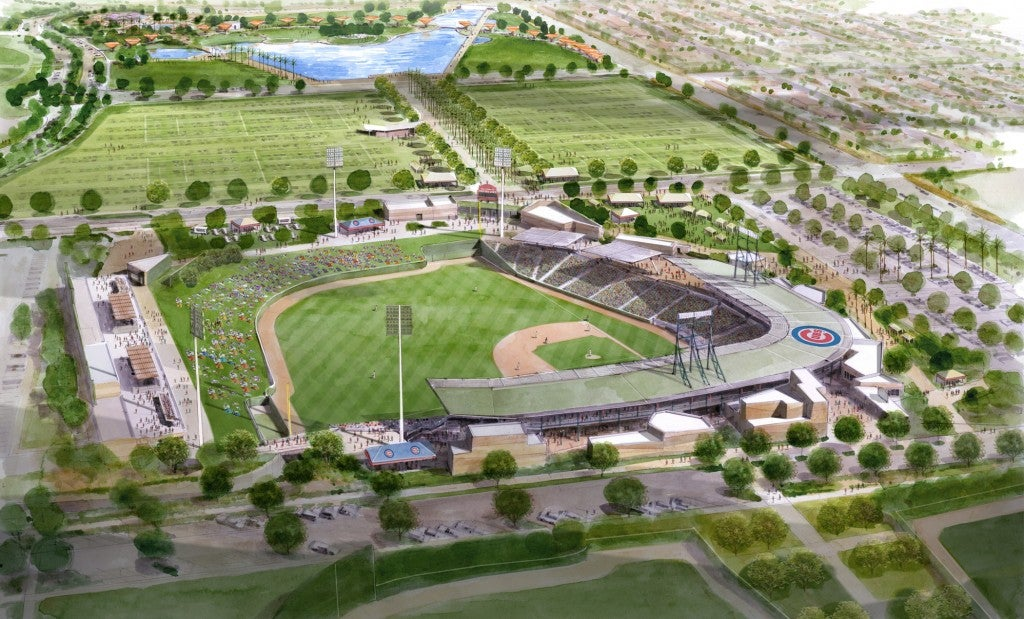 Chicago Cubs and City of Mesa spring training complex in US