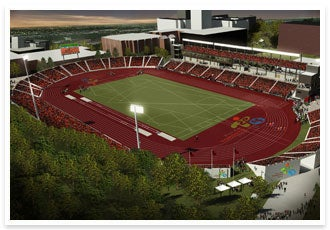 New athletics stadium at York University in Canada