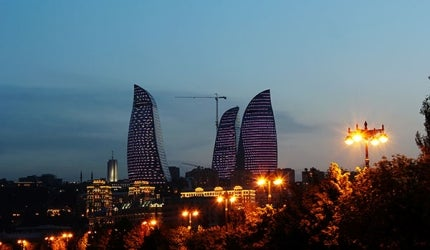 Flame Towers is a multi-use complex being developed in Azerbaijan's capital city Baku.